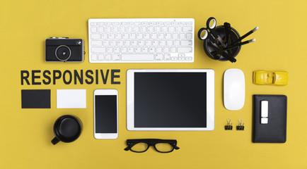 responsive web design hero header
