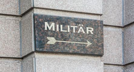 Schild 204 - Militär