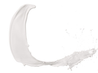 Milk splash on White Background