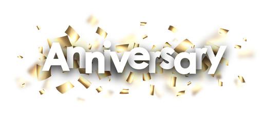 Anniversary card with confetti.