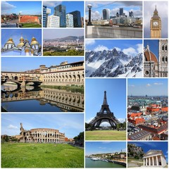 European landmarks - photo collage