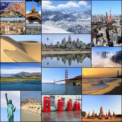 Travel destinations - photo collage