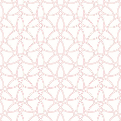 Seamless pink ornament. Modern geometric pattern with repeating elements