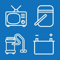 Set of 4 electrical outline icons