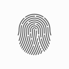 Fingerprint vector icon