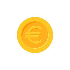 Euro coin vector icon