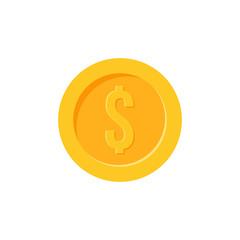 Dollar coin vector icon
