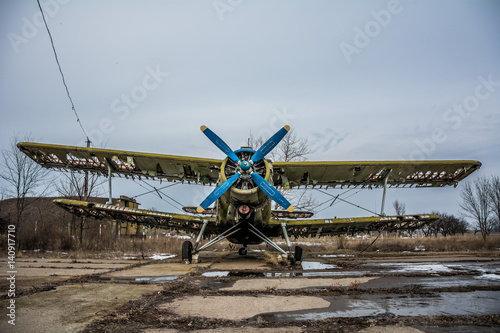 Hdr foto of an old airplane on airfield and cloudy background stock hdr foto of an old airplane on airfield and cloudy background thecheapjerseys Gallery