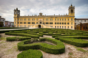 COLORNO, ITALY - NOVEMBER 06, 2016 - The Royal Palace of Colorno, Parma, Emilia Romagna, Italy
