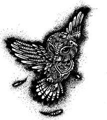 illustration hand drawing owl doodle