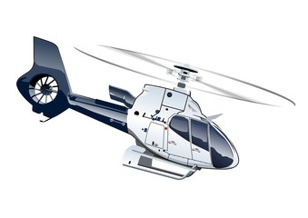 Vector Cartoon Helicopter. Available EPS-10 separated by groups and layers with transparency effects for one-click repaint