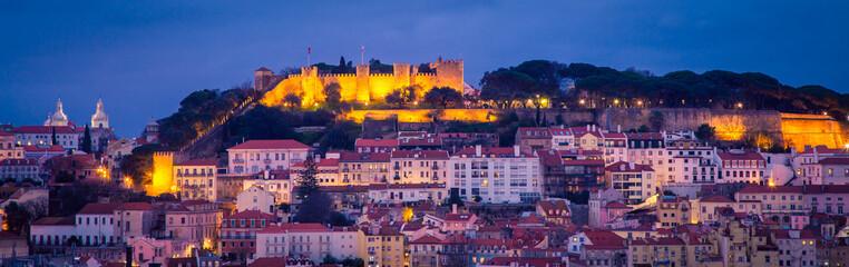 Cityscape Lisbon at Night