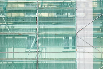 Baustelle, Abdeckplane, Fenster