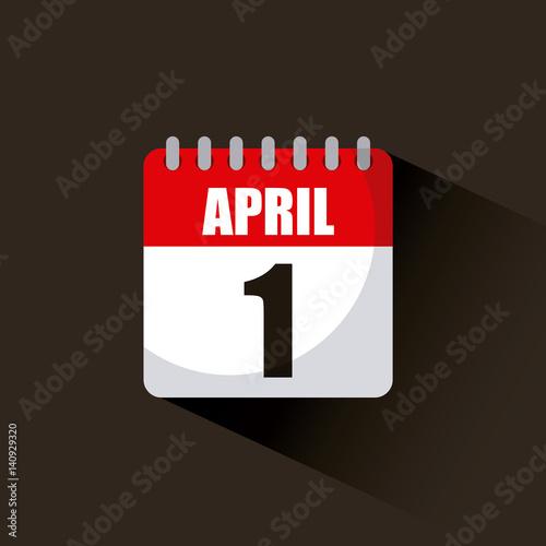 Calendar April Fools Day : Quot calendar with date of april fools day over black