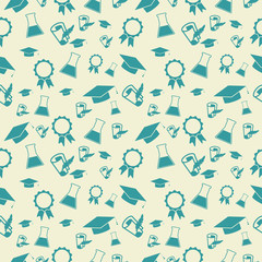 Seamless pattern with scientific icons.