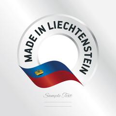Made in Liechtenstein transparent logo icon silver background