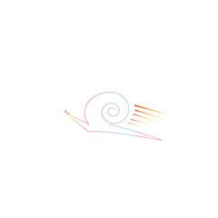 Snail on fire icon, illustration vector.