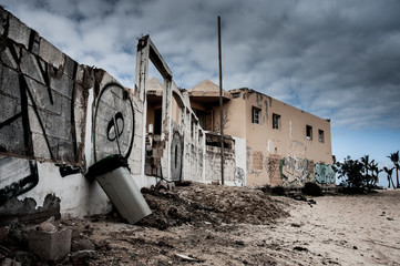 abandoned building in Fuerteventura - Corralejo