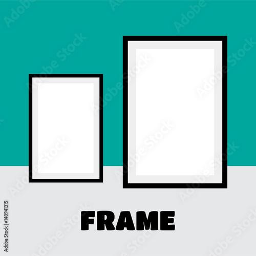 Frame Design. Frame for picture. Many frames, black frame blank ...