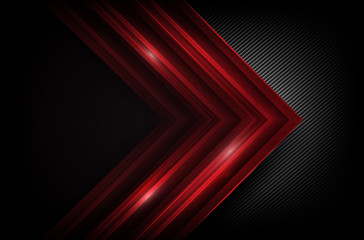 Dark carbon fiber and red overlap element abstract background vector illustration 007