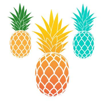 Set of pineapples
