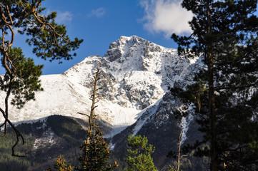 Snow top mountain Caucasus