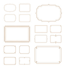Set of vintage frames. Vector elements. Can be use for page decoration, advertising, promotional and etc.