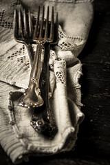 Forks on Linen