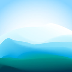 Blue and green moutain abstract background vector illustration