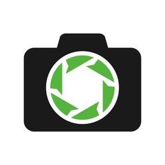 photography logo. paper plane logo vector.
