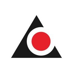 triangle vector logo template.