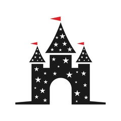 castle logo vector.