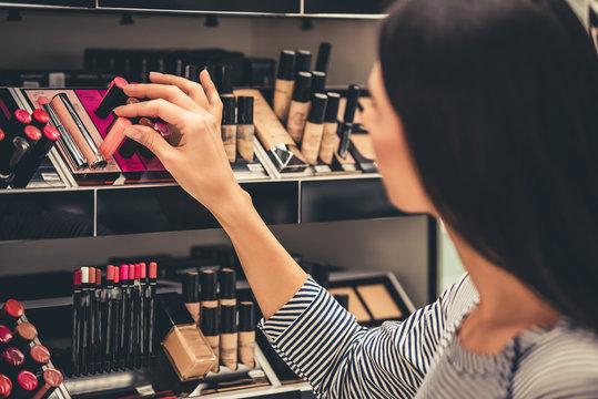 Beautiful girl going shopping