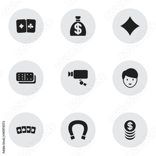 Set Of 9 Editable Game Icons Includes Symbols Such As Stacked Money
