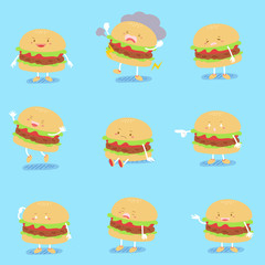 cute cartoon hamburger
