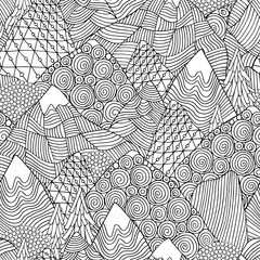 Seamless pattern with mountains.