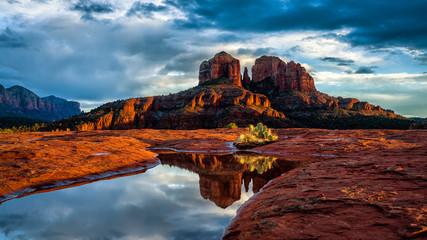Reflection Pool in Desert
