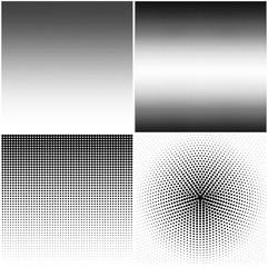Set of backgrounds with halftone stipple effect, resizable for your design