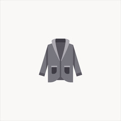 trench coat icon flat design