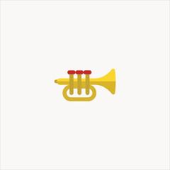 trumpet icon flat design