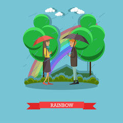 Rainbow concept vector illustration in flat style