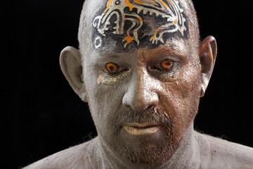 man - clay head