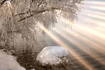 Keuken foto achterwand Schilderkunstige Inspiratie winter tale