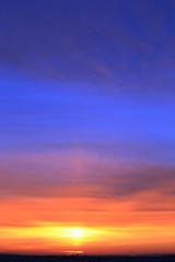 scarlet sky at sunset