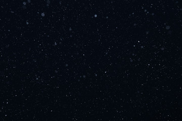 snow on a black background