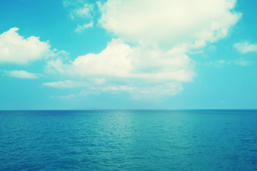 sea with  blue sky background