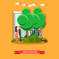 Disclosure concept vector illustration in flat style