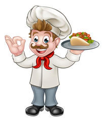 Chef Kebab Cartoon
