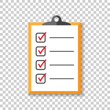 To do list icon. Checklist, task list vector illustration in flat style. Reminder concept icon on isolated background.