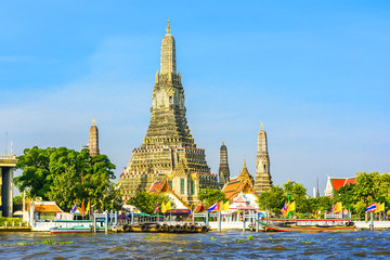 Wat Arun in Bangkok or Temple of the Down